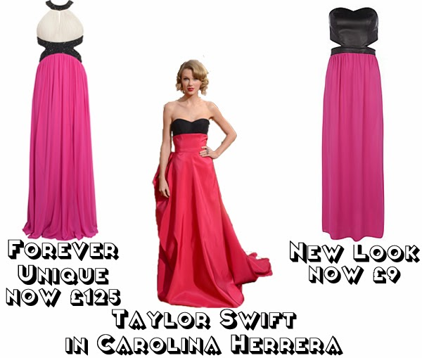 Steal Her style golden globes 2014  get the look red carpet fashion taylor swift carolina harrera forever unique new look