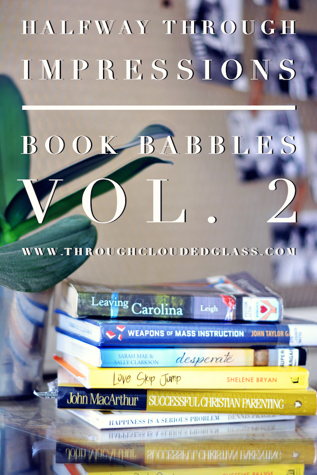 Halfway Through Impressions | Book Babbles Vlog Vol. 2 | Through Clouded Glass