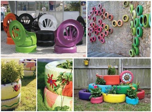 Decora tu vida diy reciclar neumaticos para decoraci n for Decoracion con neumaticos