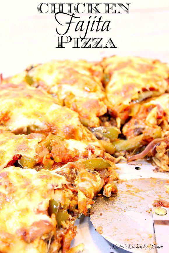 Chicken Fajita Pizza combines two tasty treats. Pizza and chicken ...
