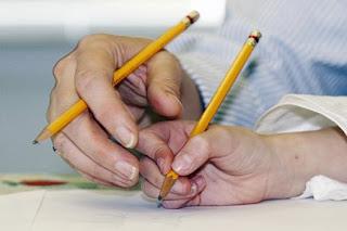 modèle d'écriture cursive