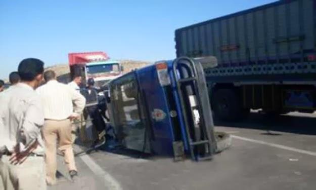 **رع بينهم شرطيين حادث تصادم