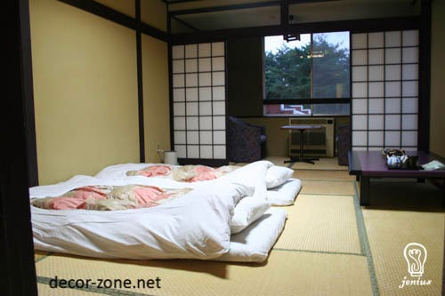 25 bedroom designs in japanese style lighting colors for Japanese bedroom ideas
