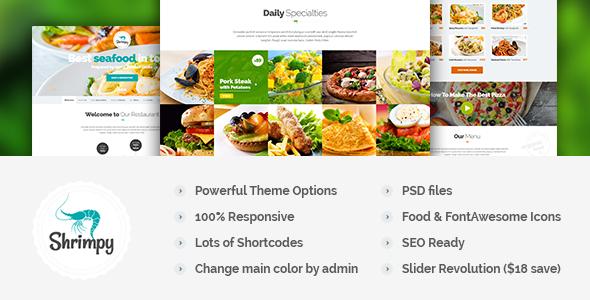 free Responsive Restaurant WordPress Theme