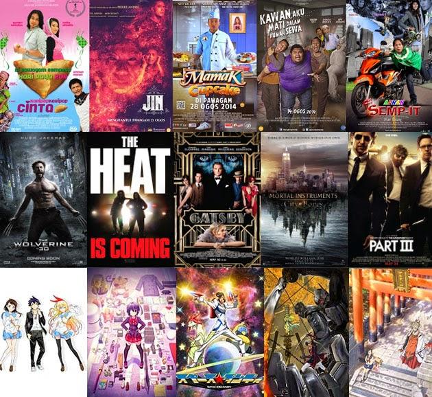 Beza kategori filem drama barat anime dan melayu