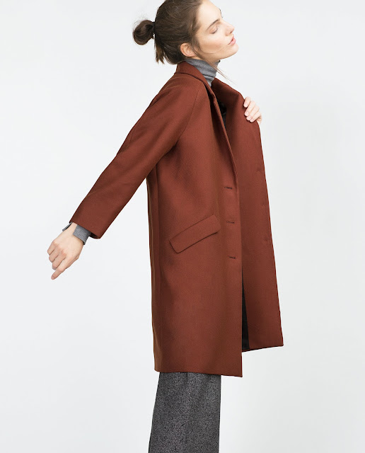zara rust coat