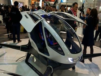 Drone chinês Ehang 184 consegue transportar uma pessoa