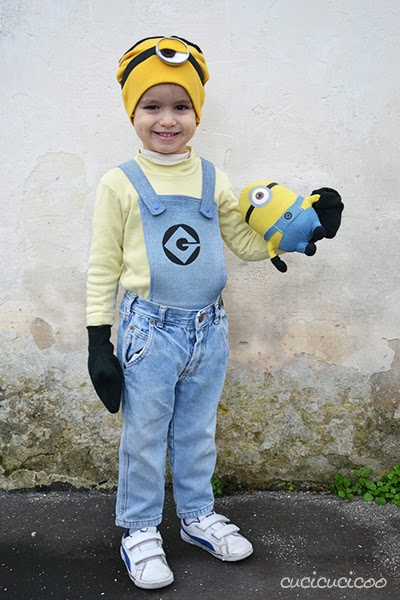 Make your own refashioned Minion (from Despicable Me) costume!