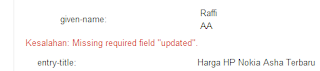 "Kesalahan: Missing required field ""updated"""
