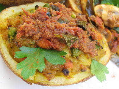 stuffed Indian potato
