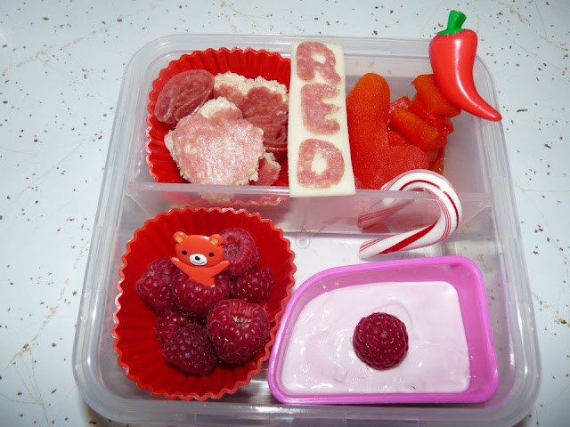 red bento lunch