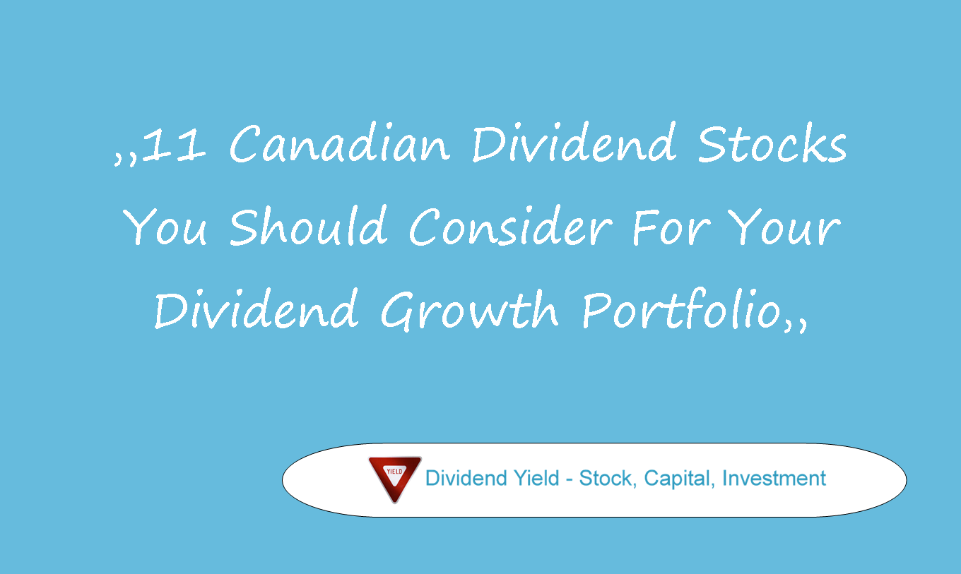 Canadian Dividend Stocks You Should Consider