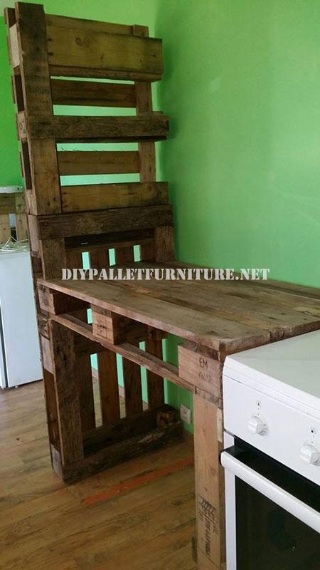 Mueble para la cocina y separador for Mueble salon palets