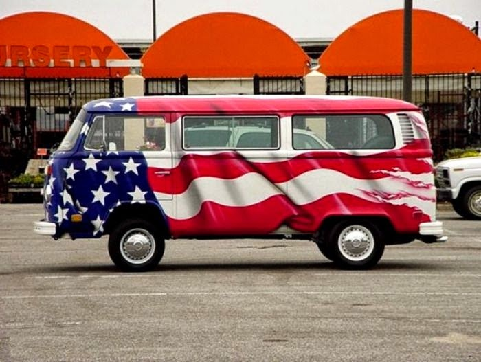 patriotic camper vw bus westfalia