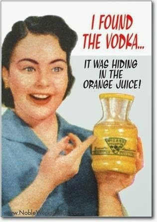 I Found the Vodka Hiding in the Orange Juice