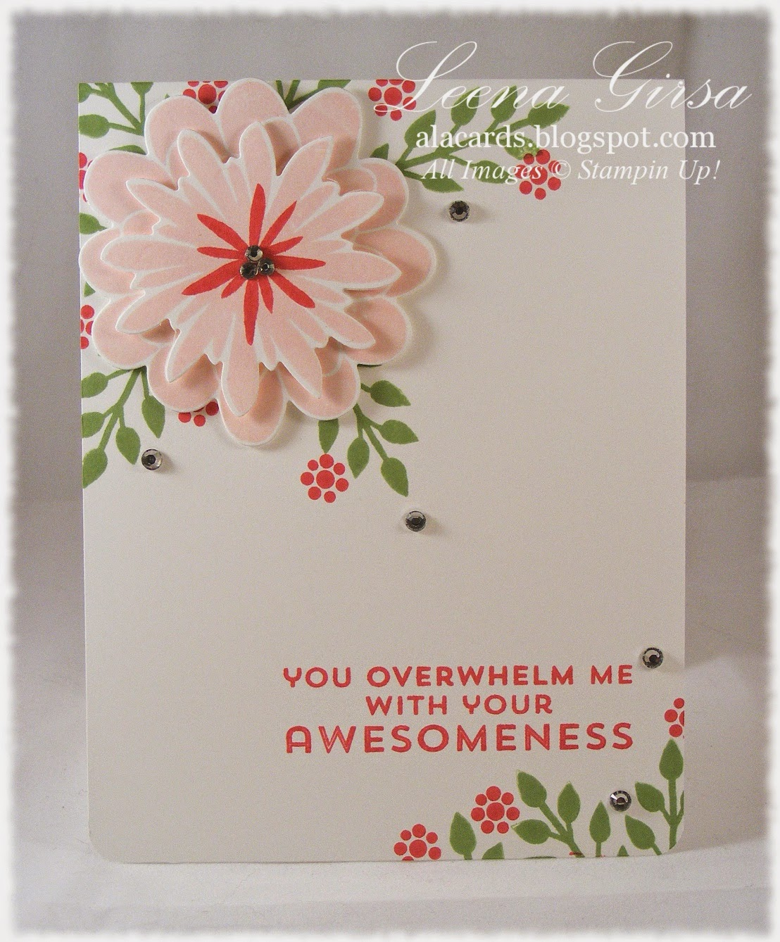 A La Cards Flower Patch Awesomeness and new product announcements