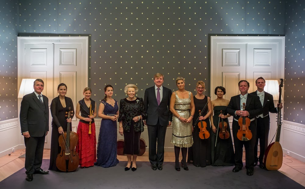 Conductor Simon Murphy and the Dutch Royal Family