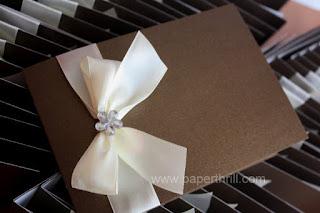 Dainty daisy brown wedding invitation cards