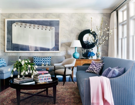 Ideas For Decorating Living Room With Blue Color Ideas