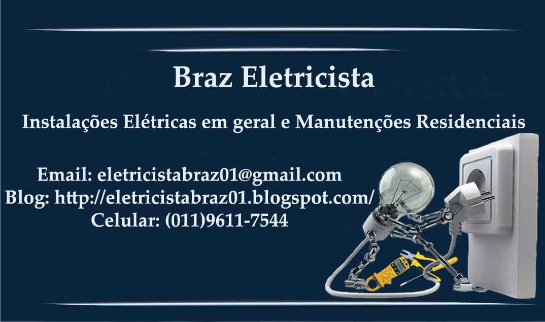 Conhecido Braz Eletricista: Cartão de Visita DI59