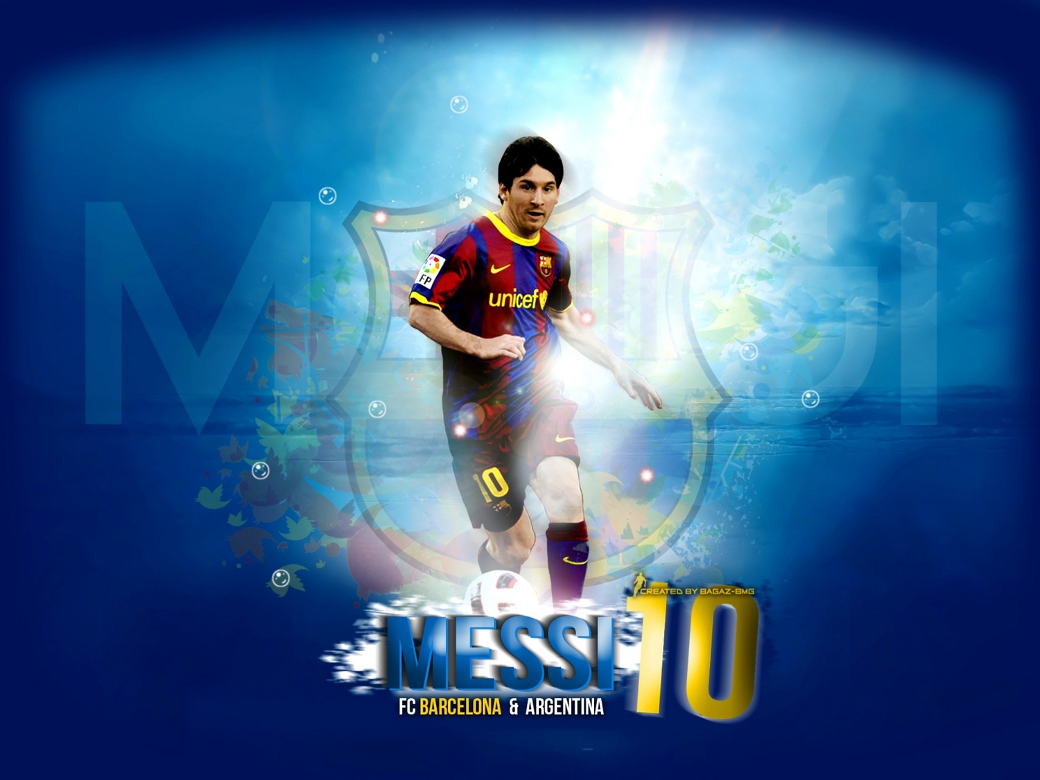 Cool Lionel Messi 10 Wallpaper