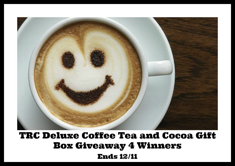TRC Deluxe Coffee, Tea and Cocoa Giveaway