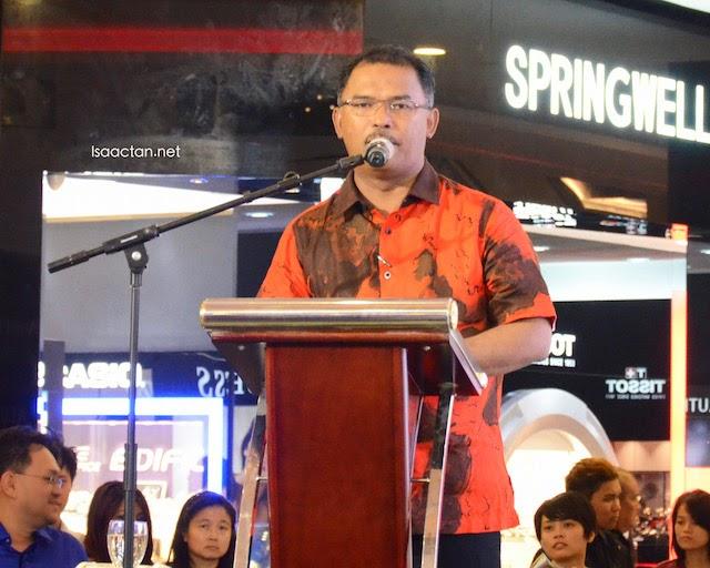 Melaka Chief Minister, Yang Amat Berhormat Datuk Seri Idris Haron giving his opening speech