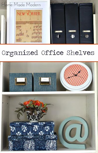 organized desk shelves
