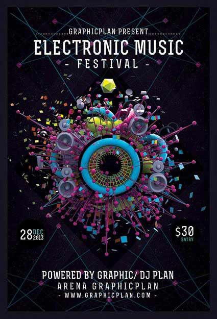 40 inspiring festival poster designs modern posters for House music events