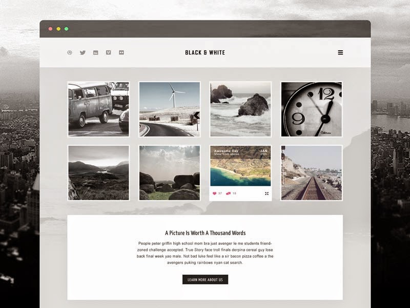 Free Website PSD Template