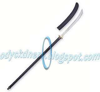Naginata Pedang Samurai Jepang