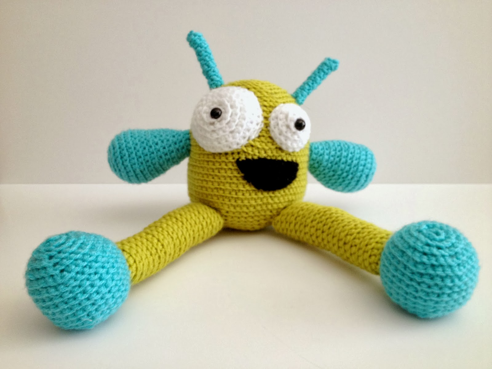 Free Crochet Pattern For Monster Slippers : Crochet Monster