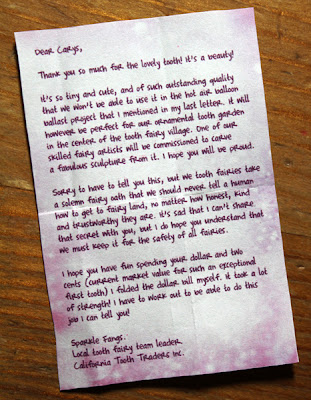 Filth wizardry tooth fairy fun for Fairy letter ideas