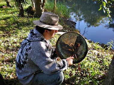 Meditando com o tambor