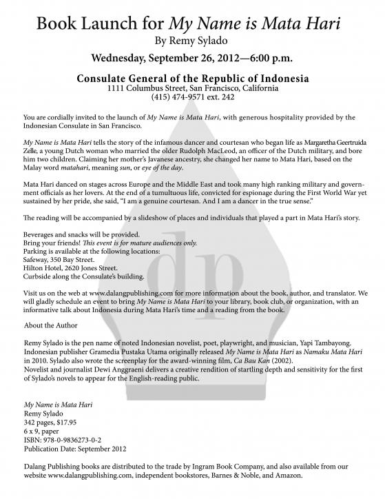 Fida abbott invitation from lian gouw and dalang publishing llc in english version stopboris Gallery
