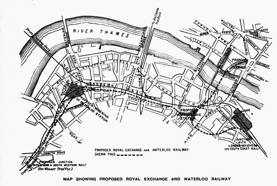 Proposed Waterloo and Royal Exchange Railway