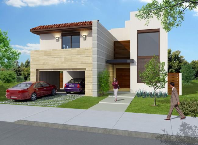 Fachadas de casas modernas linda fachada de casa moderna for Fachadas de casas bonitas y modernas