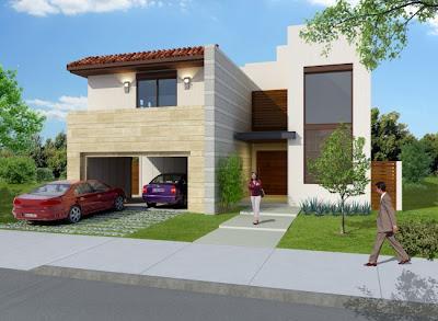 Fachadas de casas modernas linda fachada de casa moderna for Frentes de viviendas modernas