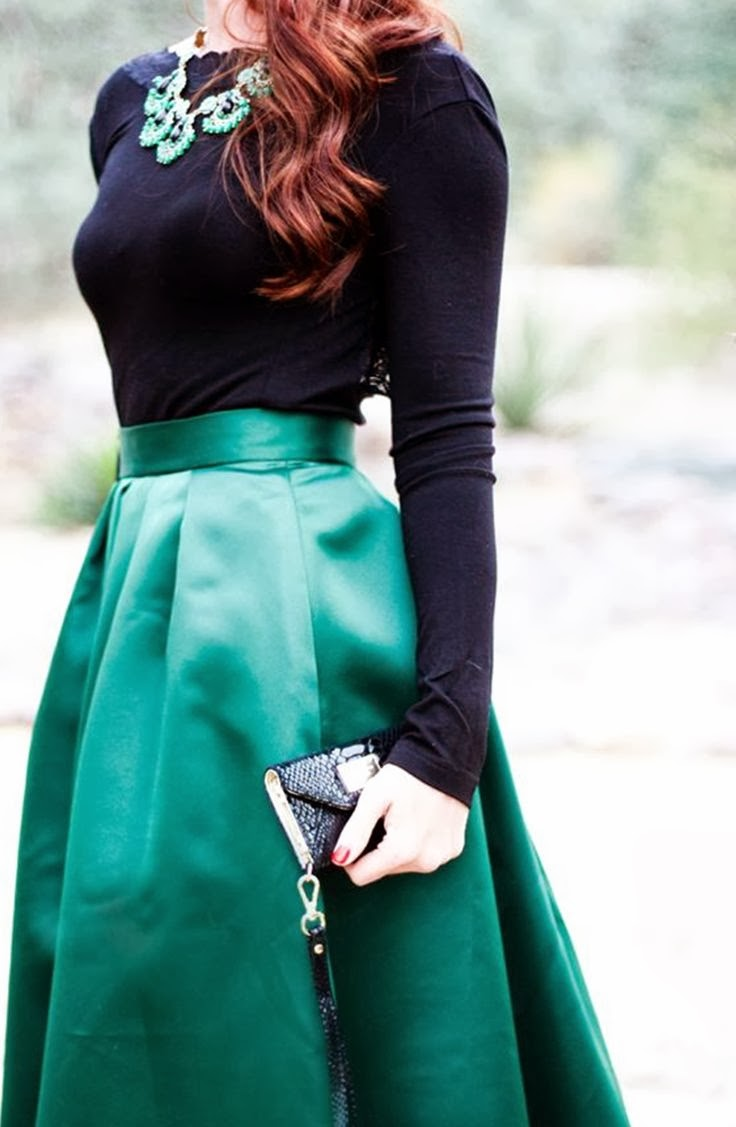 Midnight Blue Color Shirt With Dark Turquoise Long Skirt