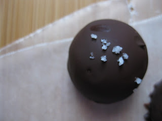 The Sweet Touch: Dark Chocolate Caramel Truffles with Fleur de Sel
