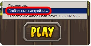 Настройки Flash cookies