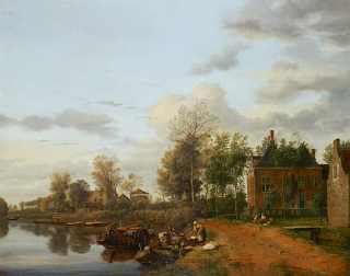 Jan van de Heyden, A Country House  on the Vliet near Delft
