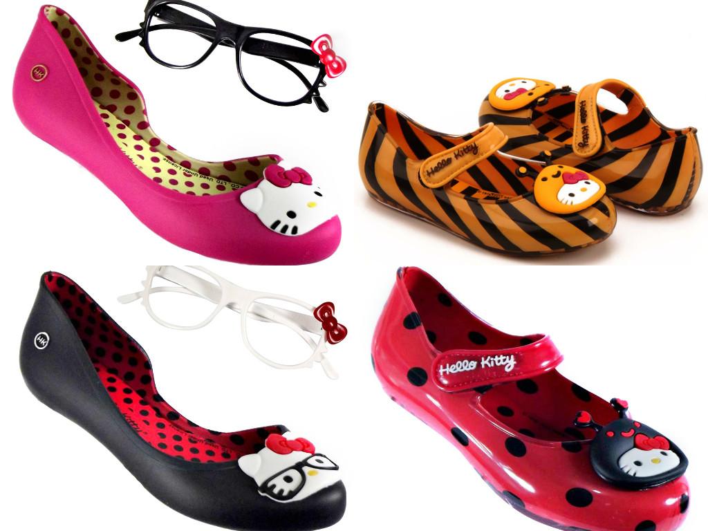 Novos modelos sapatilhas Grendene Kids Hello Kitty