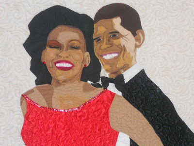 quilt of the Obamas