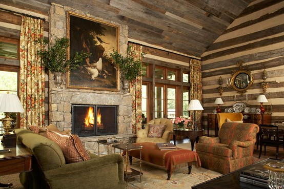 Eye for design decorating your log home for Elegant log homes