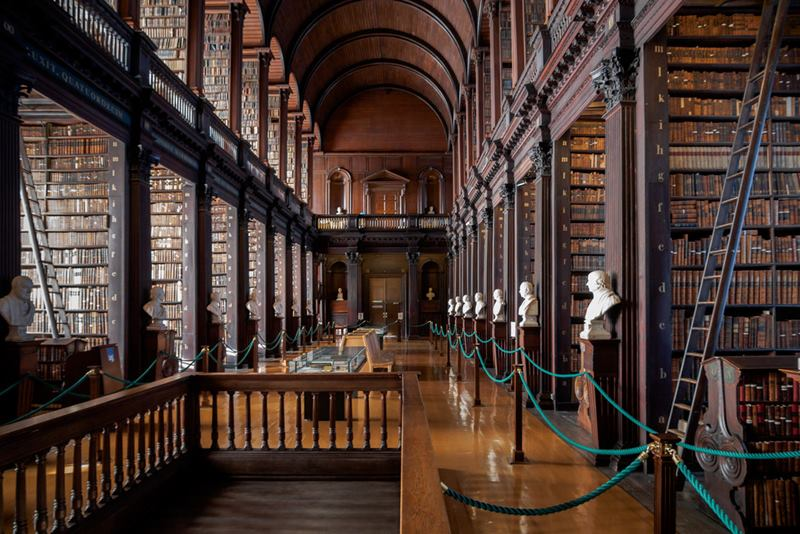 Trinity College Library Dublin, Located in the center of Dublin, Ireland's capital city the largest library in Ireland.