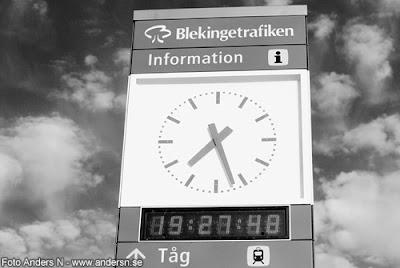 klocka, blekingetrafiken, sölvesborgs station, foto anders n