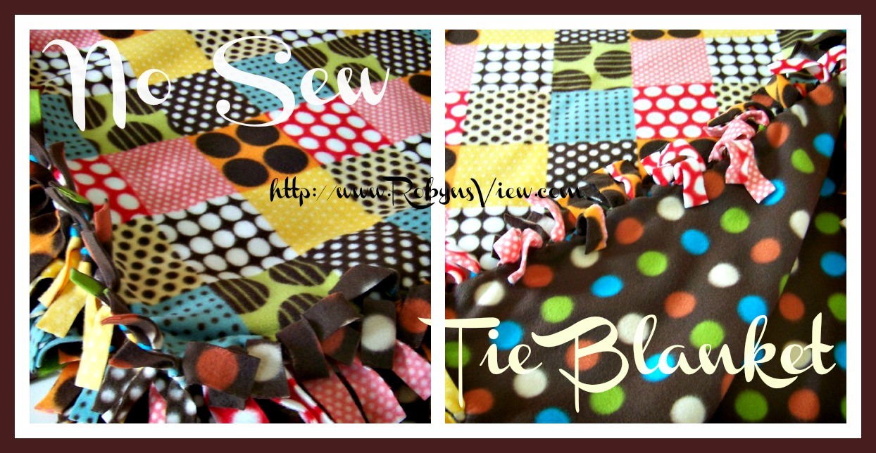 how to set and do a no sew blanket