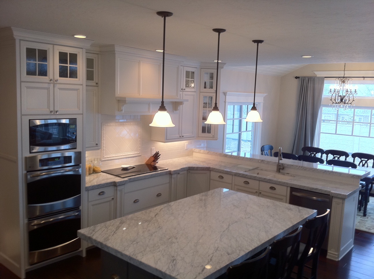 The granite gurus whiteout wednesday 5 white kitchens with super - Carrara Marble Kitchen From Mgs By Design