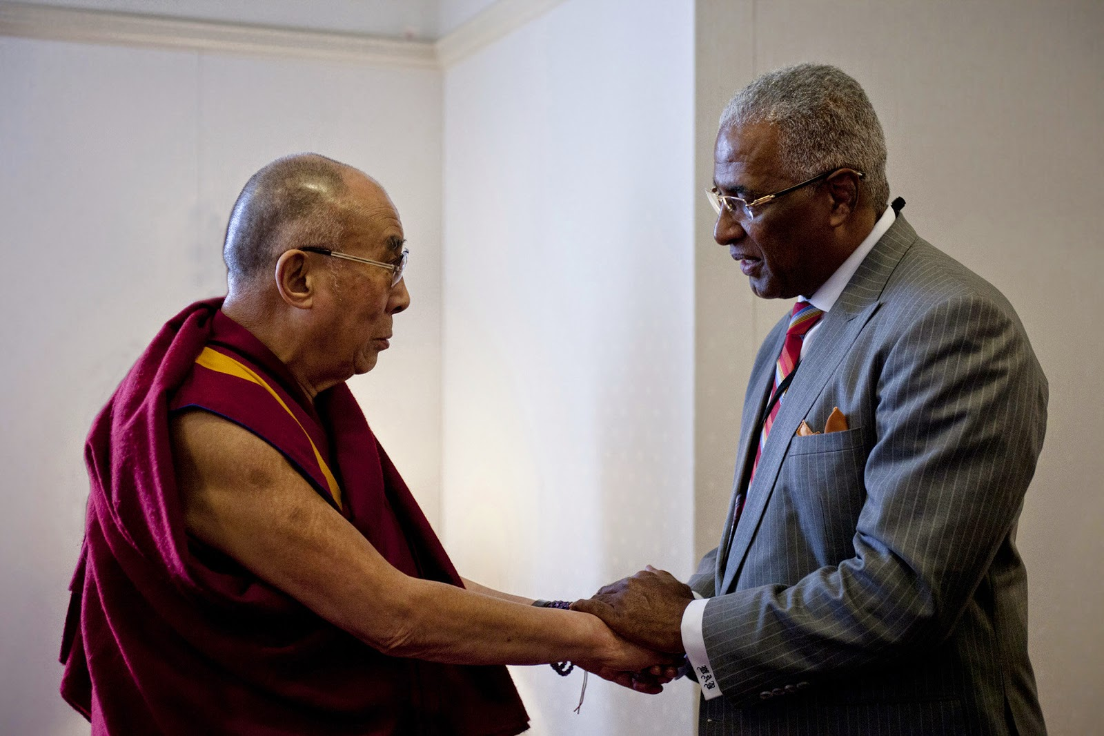 the Dalai Lama and Mayor Bell photo